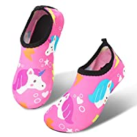 JIASUQI Kids Boys Girls Water Shoes Quick Dry Barefoot Aqua Socks for Beach Swimming Pool
