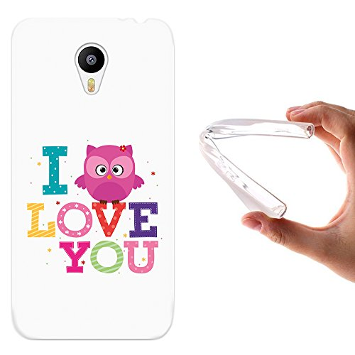 WoowCase Meizu m2 Note Hülle, Handyhülle Silikon für [ Meizu m2 Note ] Eule Satz - I Love You Handytasche Handy Cover Case Schutzhülle Flexible TPU - Transparent