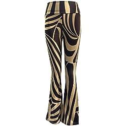 Mujer Pantalones Bootcut Moda Impresión Pantalones de Campana Suelto Pantalones de Casual Cintura Alta Control de La Panza Yoga Pantalones Largos Pantalones de Pierna Ancha S-3Xl