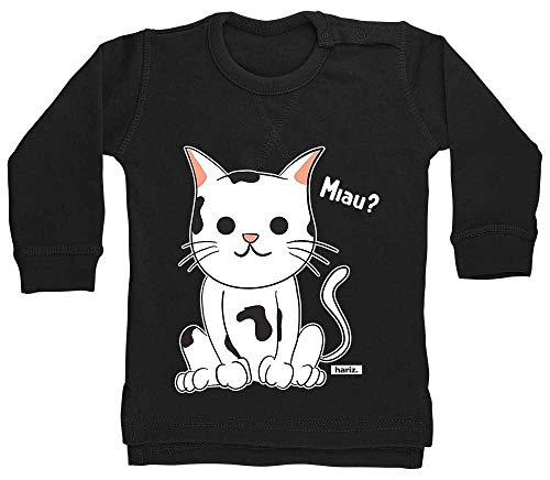 Was Katze 1 Kostüm 2 Hat - HARIZ Baby Pullover Lustige Katze Tiere Kindergarten Plus Geschenkkarten Pinguin Schwarz 18-24 Monate