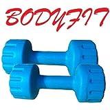 Bodyfit PVC Dumbell Set, 1Kg-1pair (Multi-Colour)