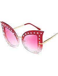 91d5271ae7 BiuTeFang Gafas de Sol Mujer Hombre Polarizadas Europa y la Estados Unidos  personalidad moda perla remache