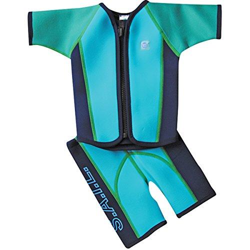Splash About Kinder Schwimmanzug mit Weste und Shorts, Türkis, M (2-4 Jahre), JSSFT2