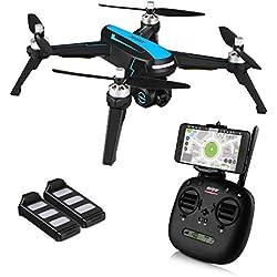 HELIFAR B3 Drone GPS, FPV Drone con Camara HD 1080p, WiFi GPS Quadcopter, Avión Radiocontrol con Follow Me, 120º Gran Angular, RTF Altitude Hold, Retorno automático de batería Baja ( Dos baterias)