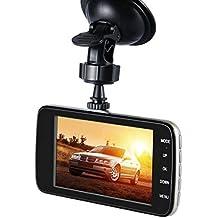 "Qkujoy 1080P Dual Lens Car DVR 4"" HD Dashboard Camcorder Video Camera Reversing Recorder 117328"