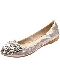 Zapatos de Vestir para Mujer Otoño PAOLIAN Calzado de Dama Plano Maternidad  Suela Blanda Cómodos Moda 7e3dac4b40f3