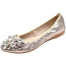 Zapatos de Vestir para Mujer Otoño PAOLIAN Calzado de Dama Plano Maternidad Suela Blanda Cómodos Moda