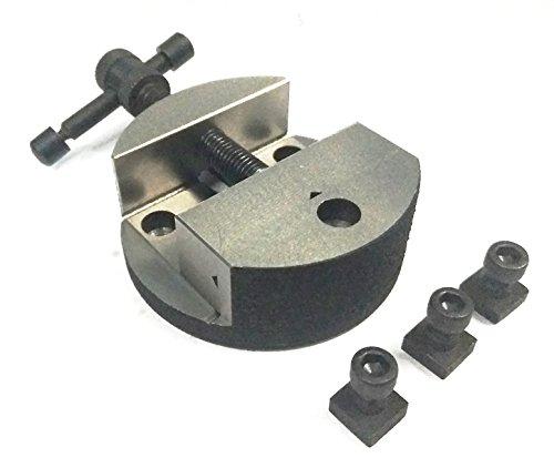 Kaste Eisen 80mm rund Schraubstock für 7,6cm (75mm) & 10,2cm (100mm) Rotary Tisch + Befestigung t-nuts