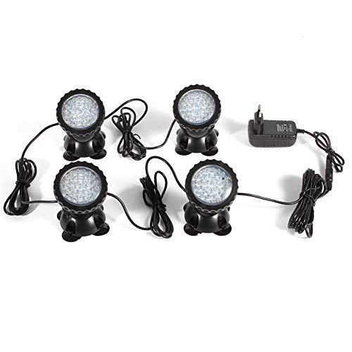 Yiyiby 4 x 36 LED Acuarios subacuarios Foco estanque iluminación Jardín lámpara...