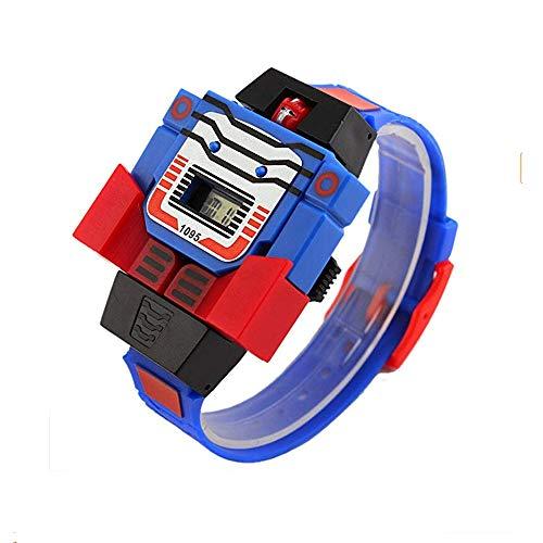 Kinder-Digitaluhr für Jungen und Mädchen, LED-Armbanduhr Transformers Bumblebee Cartoon Sport Roboter Armbanduhr