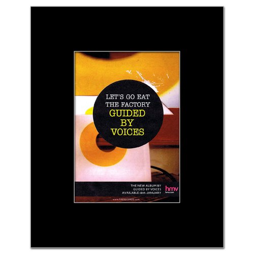 GUIDED BY VOICES - Lets Go Eat the Factory Matted Mini Poster - 13.5x10cm