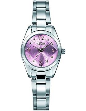 s.Oliver Damen-Armbanduhr Analog Quarz SO-15066-MQR