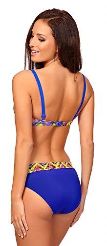 Antie Damen Bikini BH mit Bügel Mombasa Muster-3