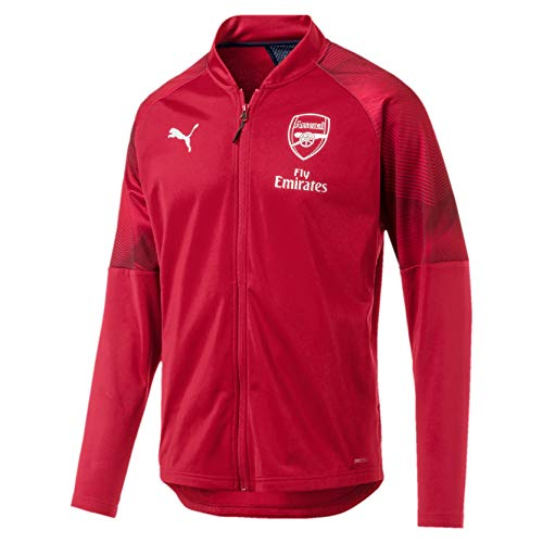 Puma Arsenal FC Stadium Jacket Sponsor Logo with Zipped Pock Chaqueta De Entrenamiento, Hombre, Chili Pepper/Peacoat, M