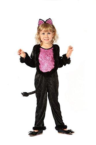 Für Katze Süße Kleinkind Kostüm - KULTFAKTOR GmbH Süßes Katzen-Kostüm für Mädchen 92/104 (3-4 Jahre)