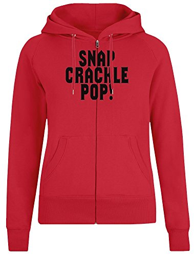 Harma Art Snap Crackle Pop! Zipper Hoodie Jumper Pullover for Women 100% Soft Cotton Womens Clothing Large -