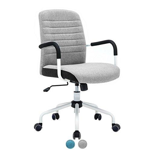 Kayelles Flair Chaise de Bureau Design - Fauteuil élégance, Confort (Gris)