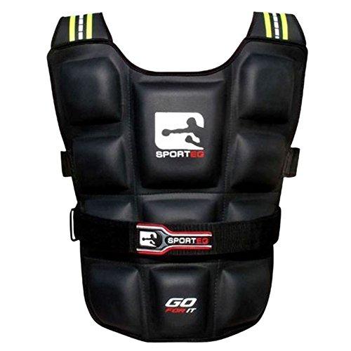 Sporteq Verstellbare Gewichtsweste Pro Gym Training Running Gewicht Verlust Fitness Jacke 6kg/10kg/12kg/14kg/20kg, Herren Damen, schwarz