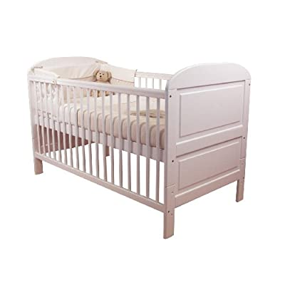East Coast Angelina Cot Bed (White)  Silver Cross(KBFBY) -- Dropship