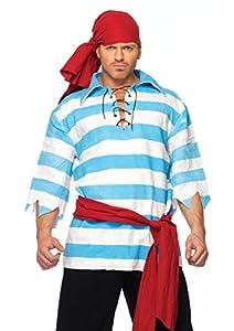 Leg Avenue- Hombre, Color azul, blanco, Large (8366306059)