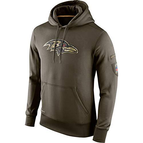 ATI-HSKJ Männer Kapuzenpullover Baltimore Ravens Jacke American Football Sport American Football-Trikots Pullover Rugby Langarmshirts Pullover Mantel,XXL180~185CM