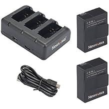 Newmowa1300mAh Batería de repuesto (2-Pack) y Kit de Cargador para Mini USB portátil para Gopro Hero 3, Gopro Hero 3+, AHDBT-301, AHDBT-302