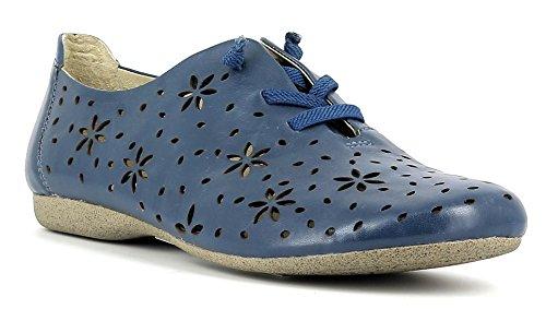 Josef Seibel Damenschuhe 87227 Fiona 27 Damen Leder Freizeitschuh, Sommerschuh, Ballerina mit Elastikband für perfekte Passform Blau (jeans), EU 38