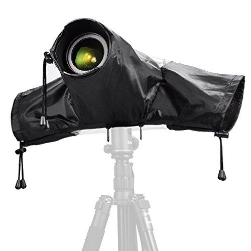 Farbe Wasserdichte Kamera (Zecti Kamera Regenschutzhülle Wasserdichter Kamera Schutz für Canon und Nikon Spiegelreflex Kameras, Farbe - Schwarz)