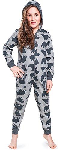 Italian Fashion IF Mädchen Jumpsuit IF180031(Dunkelmelange, 122-128) (Mädchen Baumwolle Nachtwäsche)