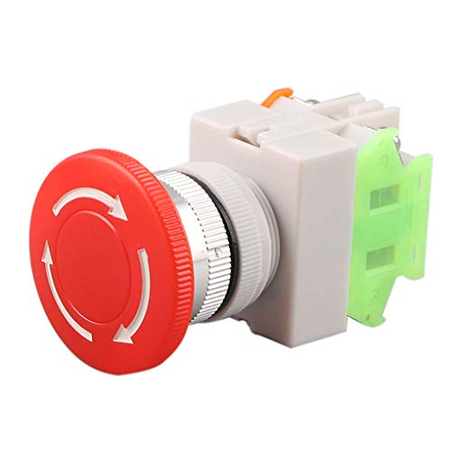C B Blesiya Interruptor de Bot/ón Pulsador de Metal de 10 mm 36 V