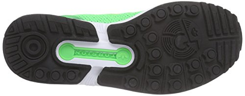 adidas Zx Flux, Scarpe da Ginnastica Unisex – Adulto Verde (Flash Green S15/Core Black/Ftwr White)