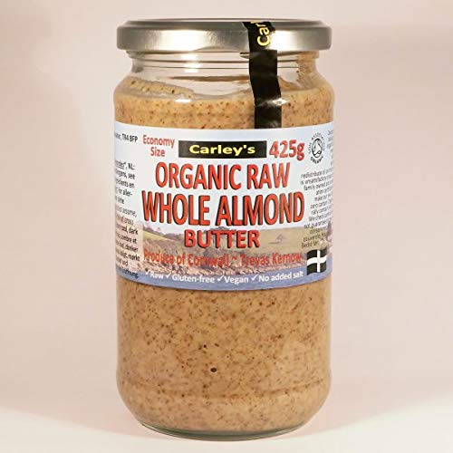 Carley's | Economy Organic Roasted Almond Butter 425g Crunchy | 3 x 425g (IT)