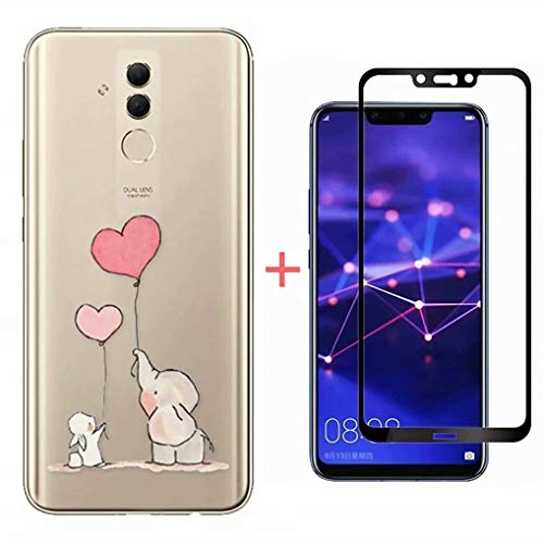 FHXD Compatible con Funda Huawei Honor 8X Ultra Thin Transparente TPU Cáscara...