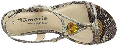 Tamaris  28123, sandales mode femme - Marron Marron (Marron (BROWN COMB (360)))