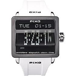PX-1 WHITE, Digital Flip Watch