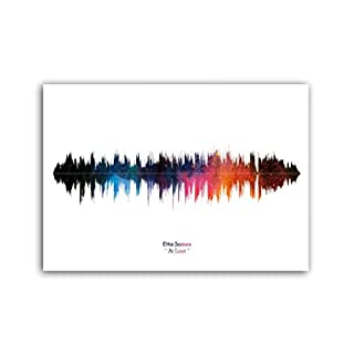 Lab No. 4 Etta James At Last Song Soundwave Lyrics Music Print