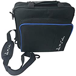 Bolsa de almacenamiento para consola de juegos Bolsa de viaje impermeable a prueba de golpes Bolso bandolera para accesorios de consola PS4 Pro Bolsa de transporte - Negro