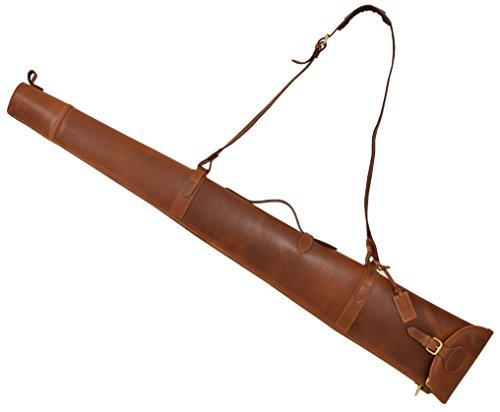 House of Leather Echtes Leder Gewehr Slip für Schrotflinte Büchse Tragetasche Tasche mit Griff Carlisle Hellbraun
