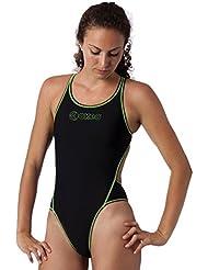 b72f6501a6db Okeo -GIULIA- Costume intero donna per piscina; SLIM FIT; tg 46 turchese