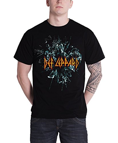 Officially Licensed Def Leppard Men's Black T Shirt. S to XXL
