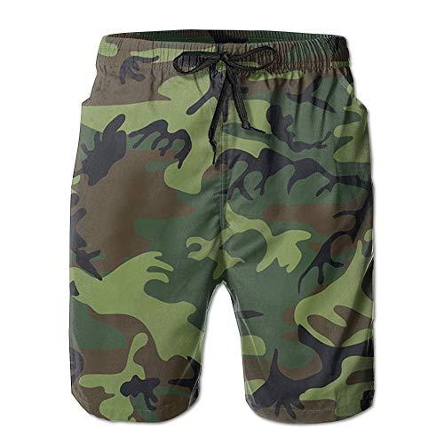 War Military Camouflage schnell trocknende elastische Strandhose Badeanzug mit Tasche XL Military Overall