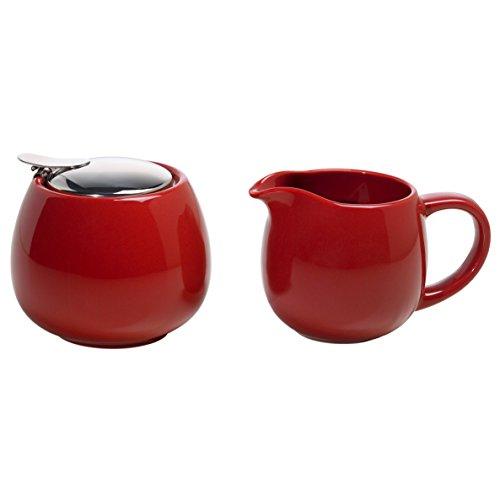 Maxwell & Williams InfusionsT Milch und Zucker Set, Keramik, rot 13 x 8.5 x 8.5 cm, 2-Einheiten