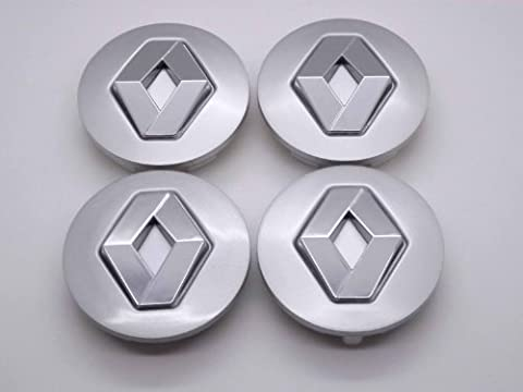 4 REANAULT 57mm Alloy Wheel Centre Caps Hub Cover Badges
