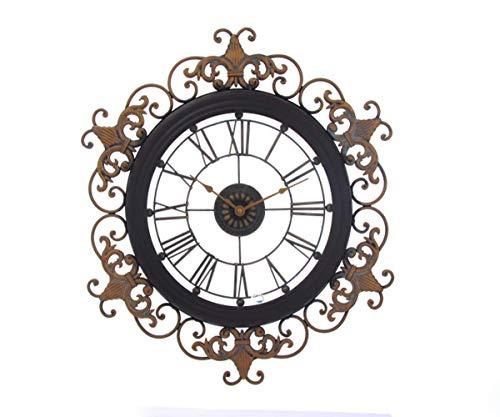 Mdhk orologio da parete di alta qualità imitazione antico ferro arte giardino orologio orologio minimalista vuoto metallo mestiere muro orologio home decor super retro tick sound appendere orologi,a