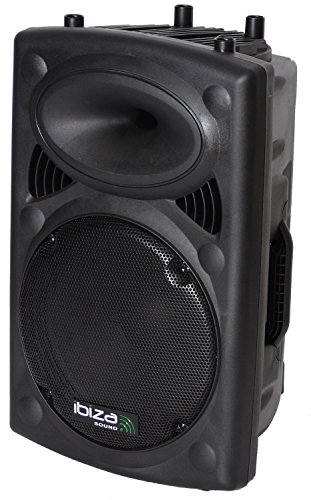 Ibiza Sound SLK12A-BT - Altavoz amplificado, 12 pulgadas, color negro