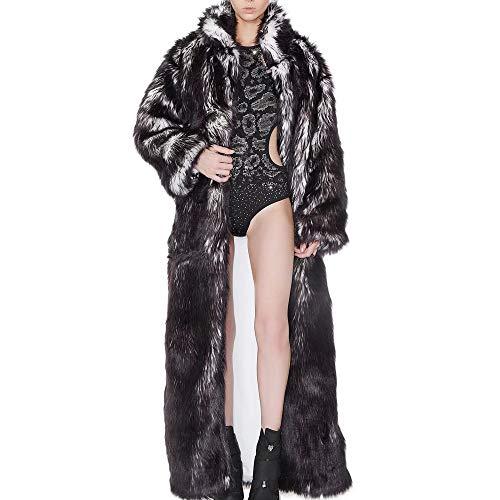 D'halloween Kostüm Garcon - DYHA Led Mantel bühne weibliche Cosplay kostüme led leuchtende Kleidung Frauen Jacke bar tanzshow Faux pelzmäntel Nachtclub weihnachtenXXXL