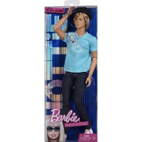 Mattel T3188 - Ken Fashionista blond - Ken-bar