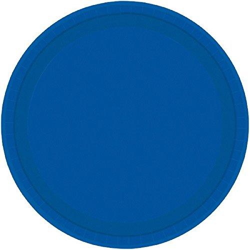 Amscan 23cm Pappteller, Bright Royal Blau