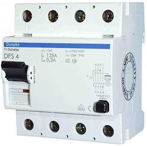 Doepke FI-disyuntor DFS4040-4/0,30 A V500 corriente de falla-disyuntor 4014712144835