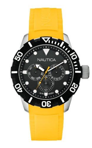 Nautica - A13644G - Montre Mixte - Quartz Analogique - Bracelet Caoutchouc Jaune